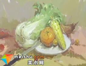 龚永光色彩静物白菜-美术高考教学视频