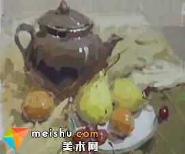 龚永光色彩静物调茶壶-美术高考教程