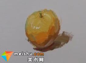 龚永光色彩单体塑造桔子-美术高考教学视频