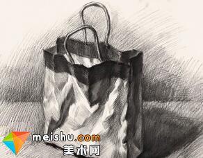 王晓露素描静物手提袋-美术高考教程