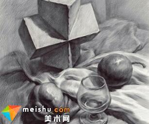 王晓露素描静物范画-美术高考教程