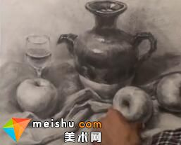 张国政素描静物-美术高考教程