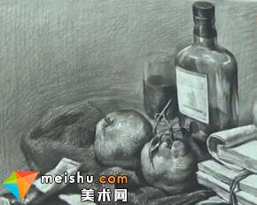「美术高考」宋镇素描静物-杭州凝结画室