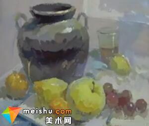 李现鹏水粉罐子水果-美术高考教程