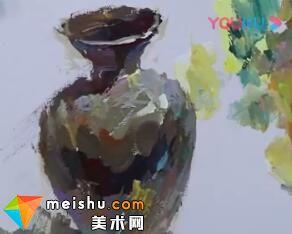 水粉单体之罐子的绘画过程-美术高考教程