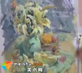 水粉植物绘画(共两集)-美术高考教程
