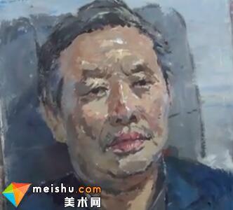 彭冲色彩头像男老年-美术高考视频教学