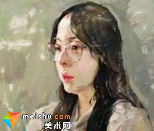 「美术高考」王元广色彩头像女青年-杭州凝结画室