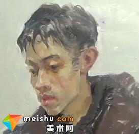 「美术高考」王元广色彩头像男青年-杭州凝结画室