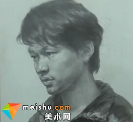 于萍男青年素描头像(共两集)-美术高考视频教学
