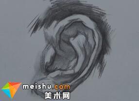 蔡亚男素描五官耳部教学(共两集)-美术高考教程