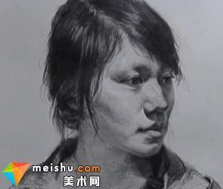 解婧素描头像范画2-美术高考教学