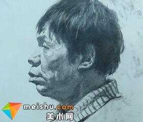解婧素描头像范画4-美术高考教学