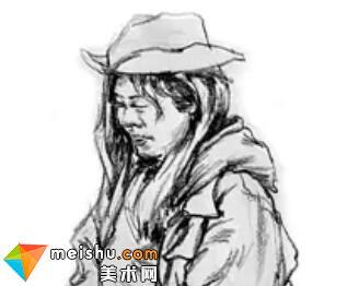 「美术高考」速写女青年上半身细节刻画-杭州凝结画室