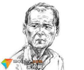 「美术高考」速写男中年头部细节2-杭州凝结画室