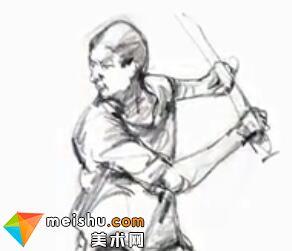 「美术高考」速写打棒球的男青年-杭州凝结画室