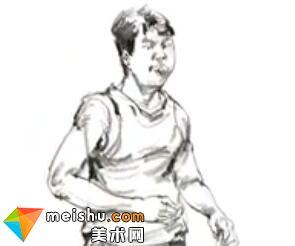 「美术高考」速写跑步的男青年-杭州凝结画室