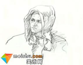 「美术高考」速写刺客信条头部-杭州凝结画室