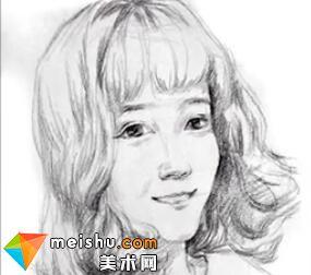 「美术高考」速写网红女青年头部细节刻画-杭州凝结画室